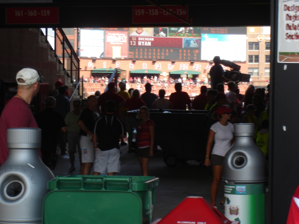 This is what breaking into Busch Stadium looks like
