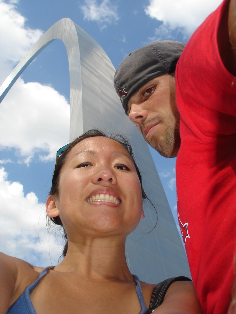 Doug and me, exuding Nelly at the Arch