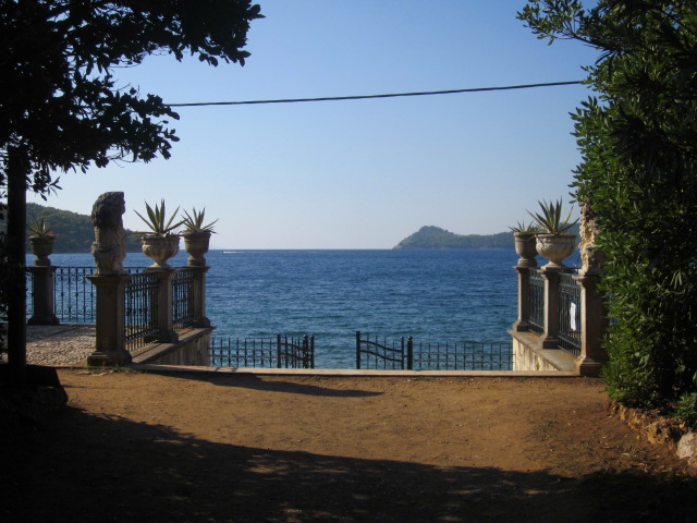 Entrance to a semi-hidden botanical garden on Lopud island