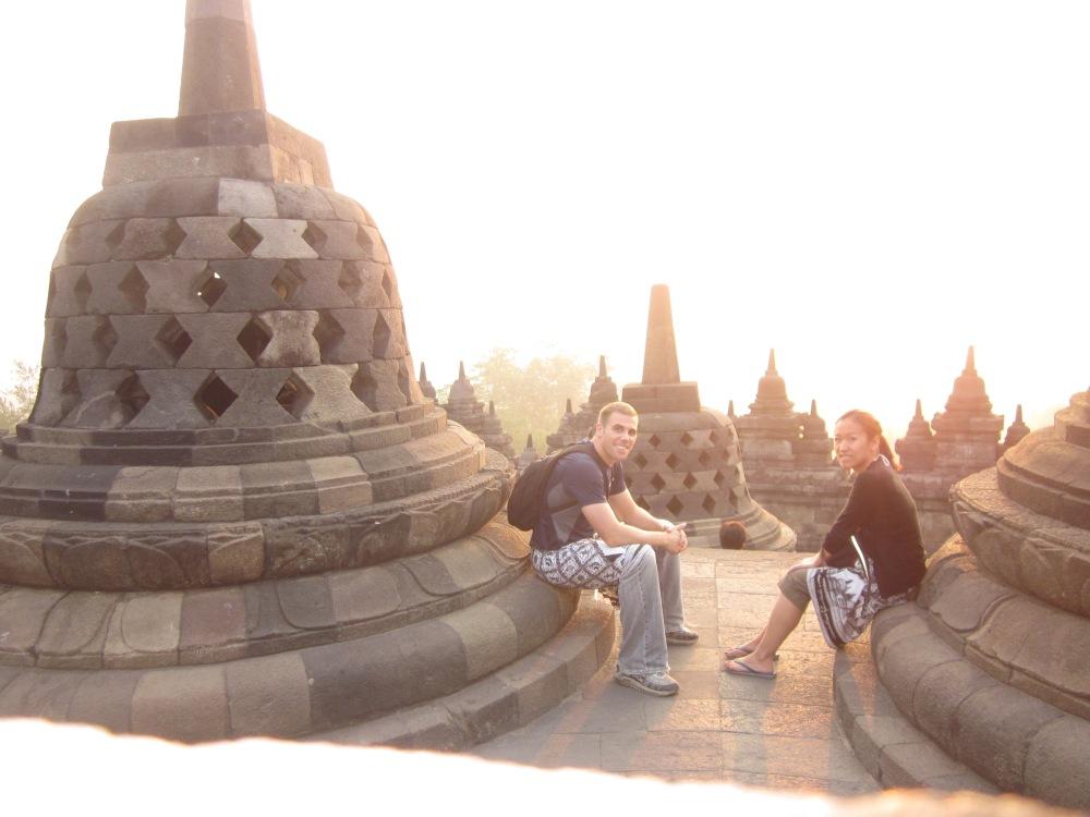 Chilling Atop Borobudur