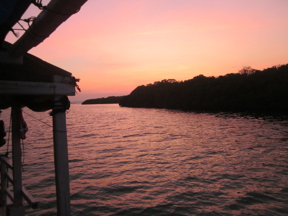 Sunset near Kalong