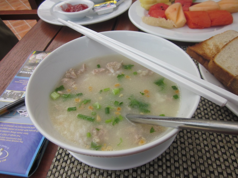 Chicken rice porridge