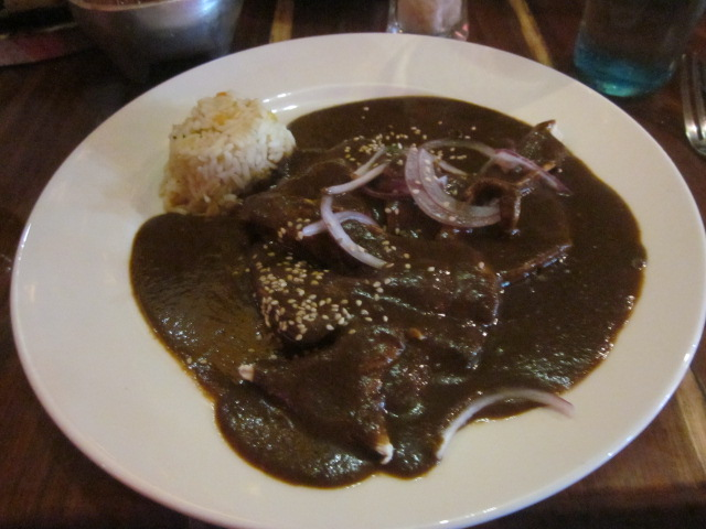 There was actually a substantial amount of chicken drowning in this mole sauce...apparently they used 37 ingredients to make the sauce