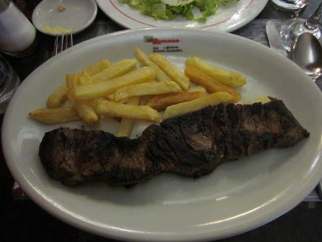 My grilled steak at La Romana...not too bad!