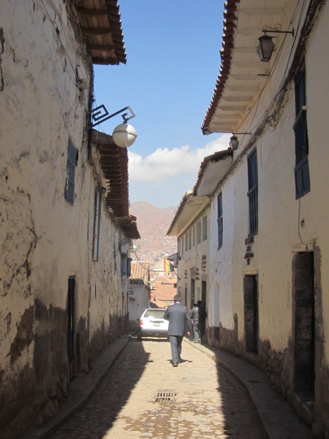 It took some serious skills for drivers to turn and navigate down these narrow alleyways