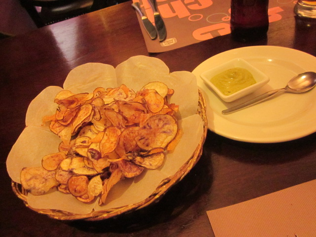 Some exotic and delicious homemade potato chips courtesy of Chicha