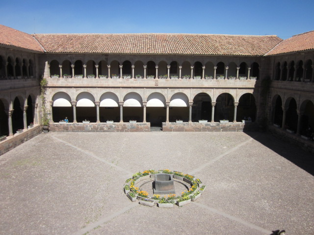 Looking down into the courtyard of Qoricancha