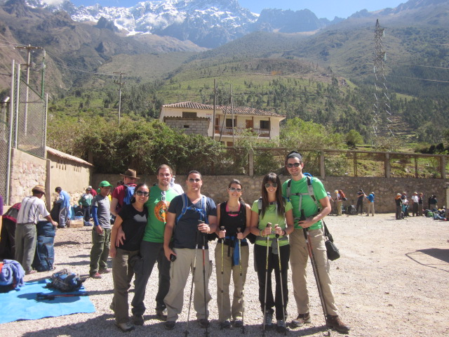 "The Inca Trail Dream Team, in our ""before"" shot right before embarking on our 4-day journey"