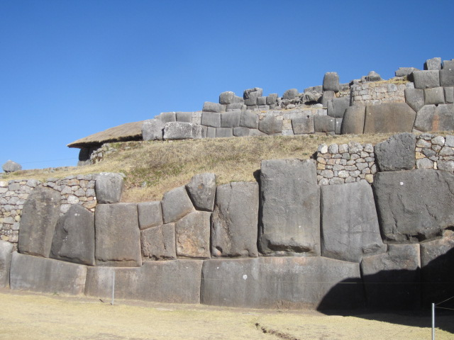 Massive walls at Sacsayhuaman...amazing how precise the stonework was.