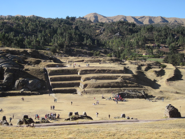View down onto some more ruins at Sacsayhuaman