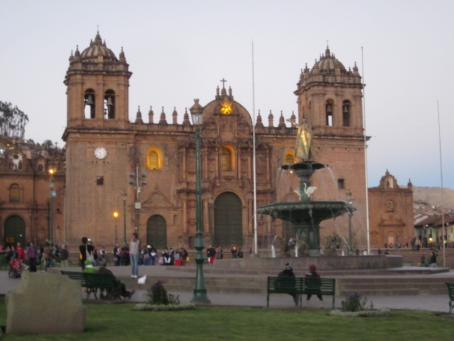 Cathedral of Santo Domingo at dusk