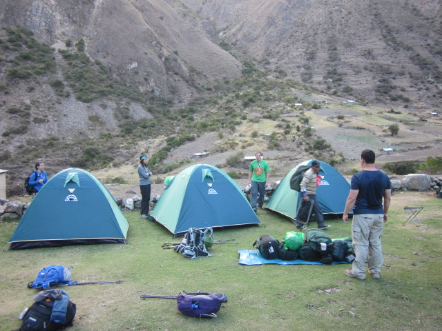 Our first night's camp at Wayllabamba