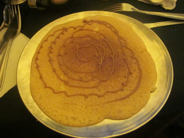 Pancakes with dulce de leche...breakfast of champions
