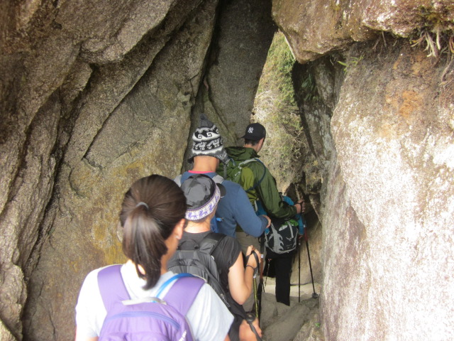 The Inca trail even went right through some cool little caves