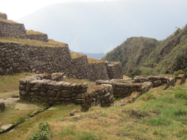 Row of aqueducts at Phuyapatamarca