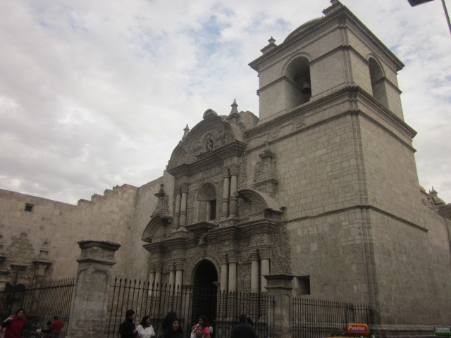 Another one of the many churches, the Church of the Company of Jesus, on the other side of the Plaza de Armas