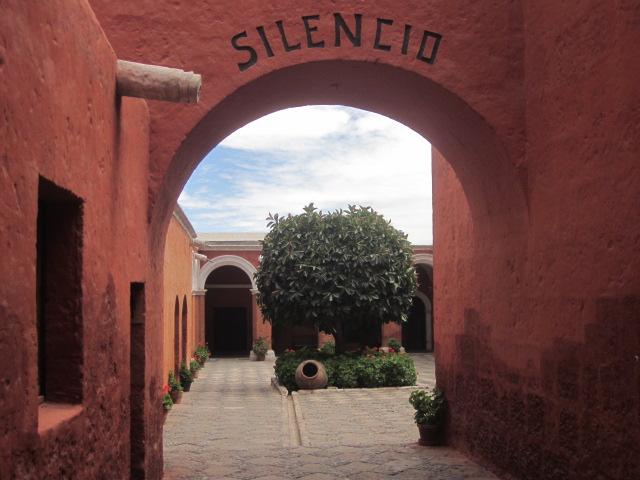 Entering the Santa Catalina Monastery
