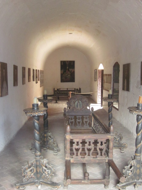 Inside the Profundis Parlor were paintings of 13 of the nuns who lived in the monastery between 1691-1884