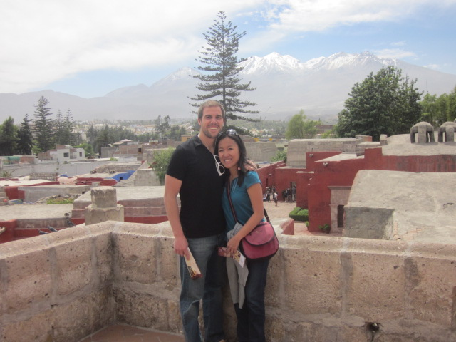 It wasn't the Inca Trail, but we had to do a little climbing to get to the roof of the monastery for some killer views