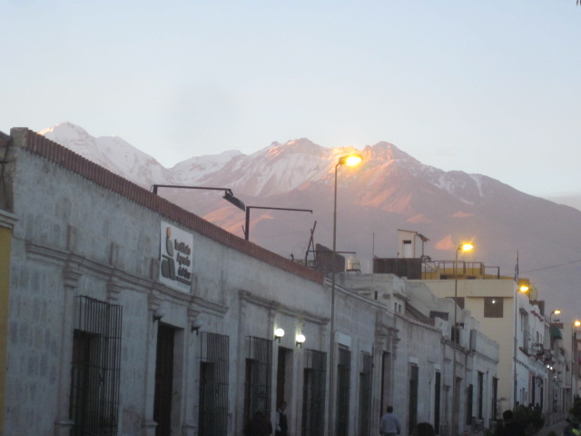 Sunset leaving Arequipa