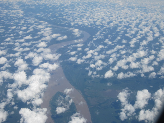 Flying over the Amazon really showed how expansive both the rainforest and river really were