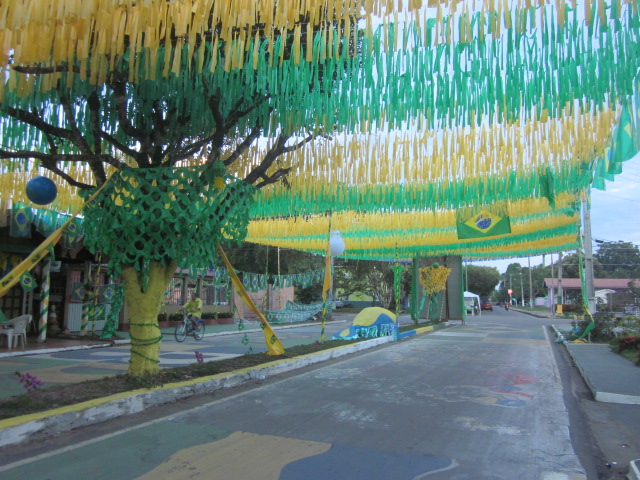 Nearly every street in the entire nation was festively decorated with green, yellow, and white