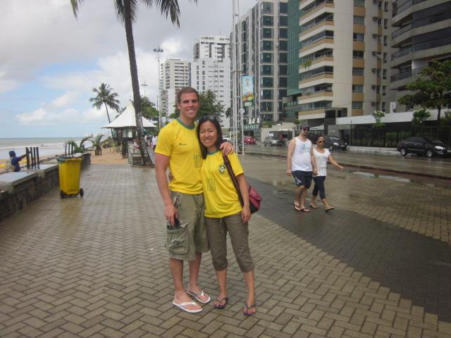 Along the boardwalk at Boa Viagem...definitely more of an urban beach feel than little PdG