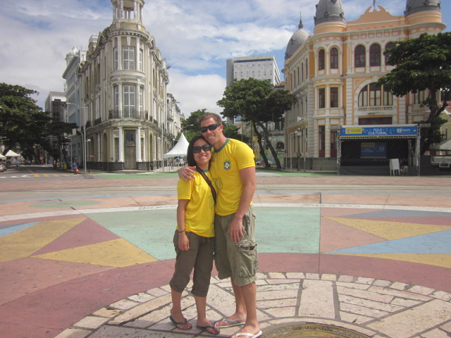 Marco Zero, point that marks where the Portuguese first founded Recife, adjacent to the historic quarter