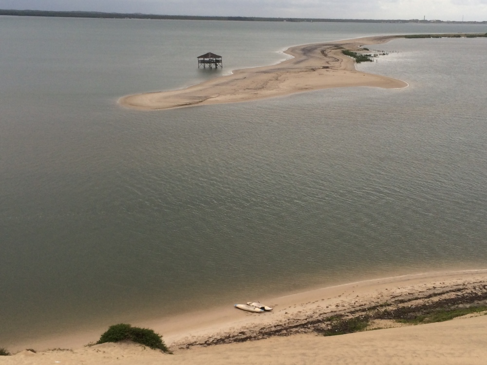 View of the river and sand bank from near the lighthouse