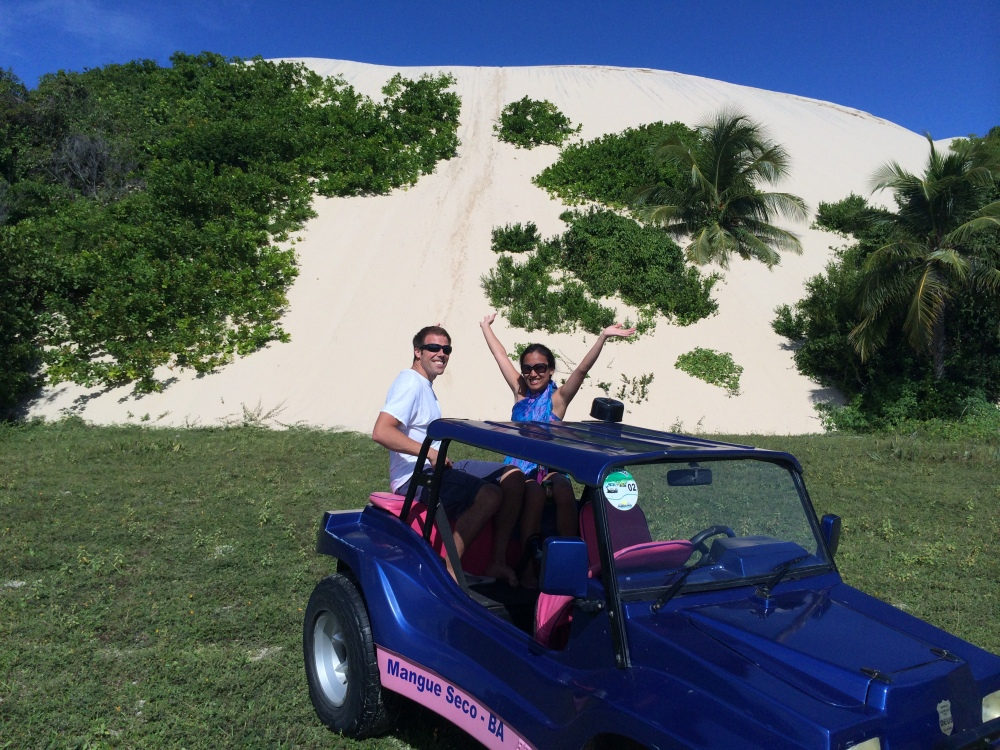 Post zipping down the sand dune