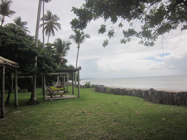 Our private beach at the hotel.  Too bad the sun wasn't out :(