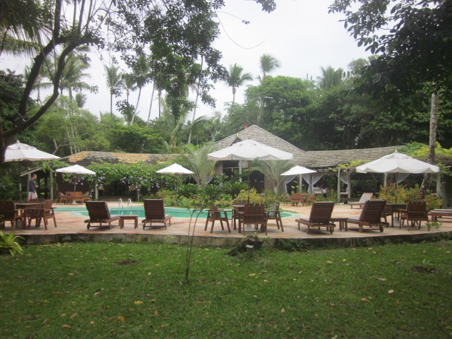 View of our pool from the restaurant