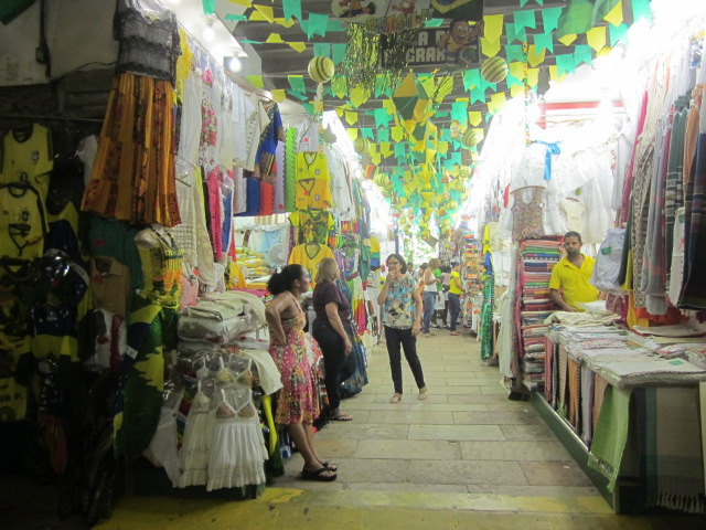 Inside the Mercado Modelo, an indoor market full of food and crafts