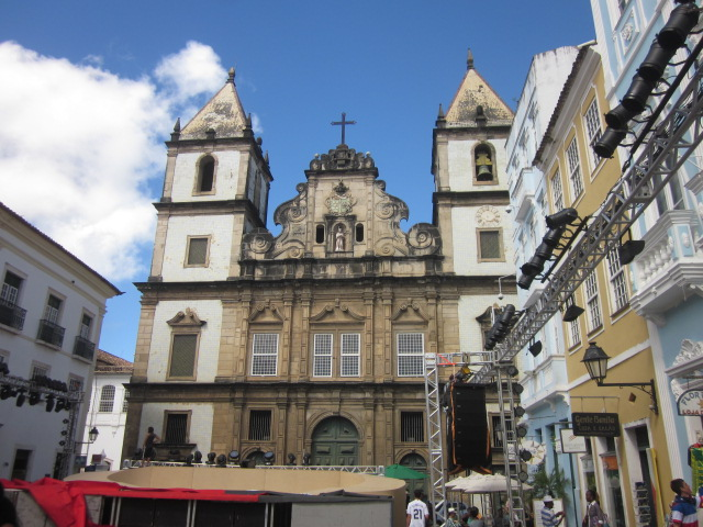 Constructed in 1723, the Igreja do Sao Francisco is one of many of Salvador's churches but by far the richest with its gold-plated interior
