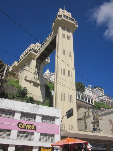 Elevator Lacerda, the elevator that connected Upper Pelourinho to Lower Pelourinho