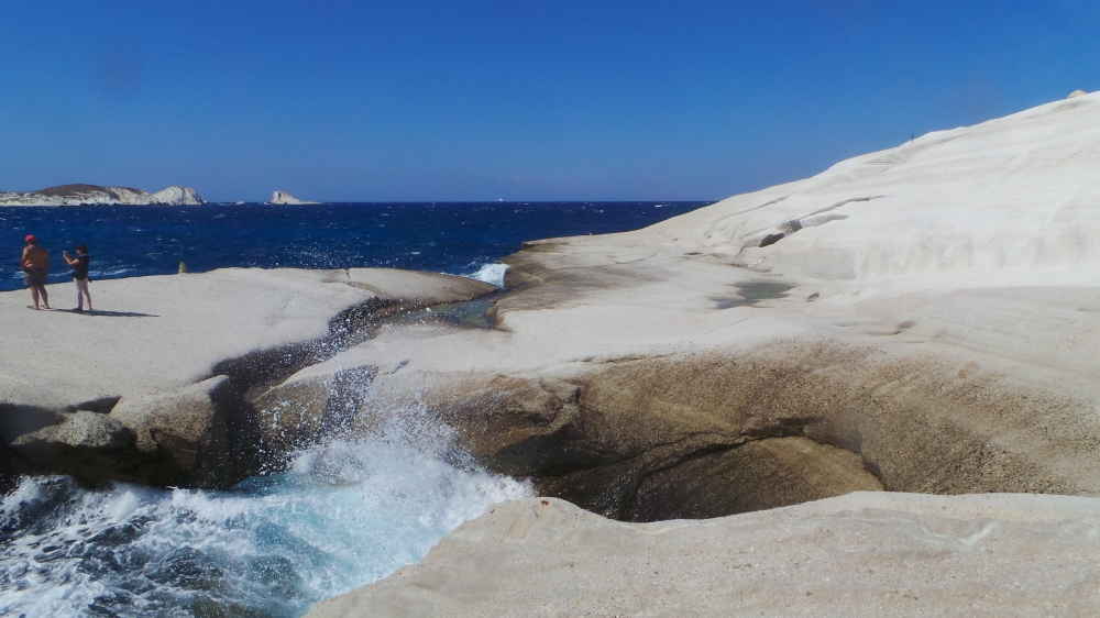 Cool rock formations at Sarakiniko