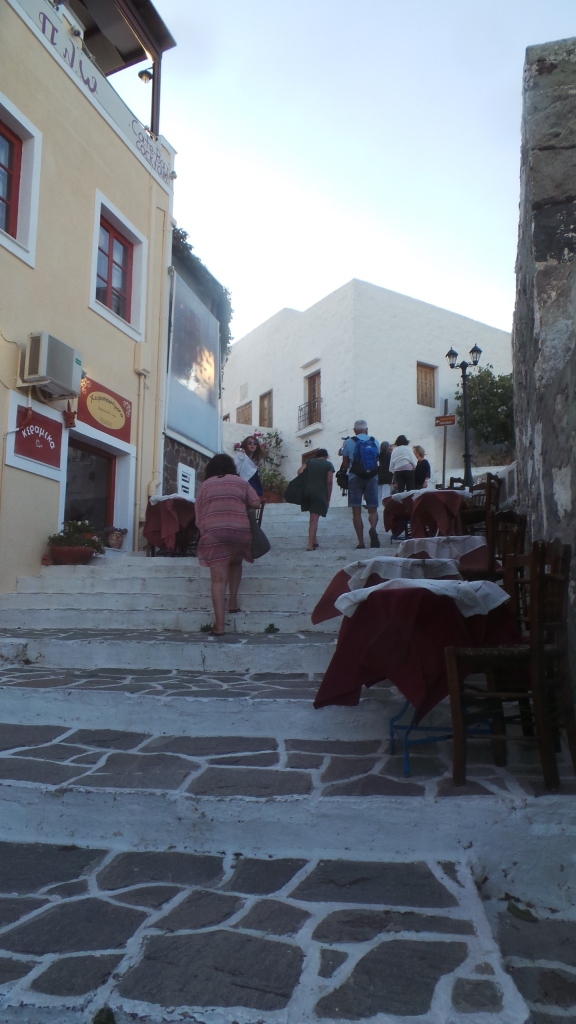 The narrow pedestrian streets in the capital, Plaka