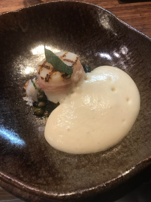 Scallop, Cauliflower, and Cheese