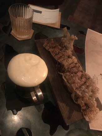 Pork Scratchings with Guinness Foam
